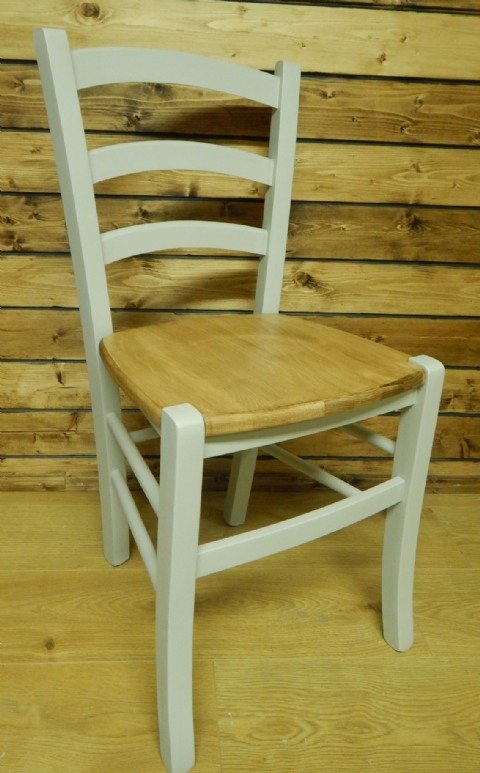 Bistro Ladder Back with Solid Seat